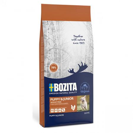 Сухой корм для щенков, для беременных/кормящих собак BOZITA Naturals Puppy & Junior с курицей 12.5 кг