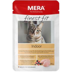 Влажный корм для кошек, живущих в помещении MERA Finest Fit Indoor с курицей 85 г