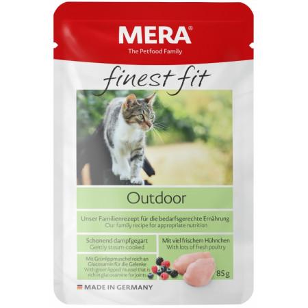 Влажный корм для активных, гуляющих на улице кошек MERA Finest Fit Outdoor с курицей 85 г