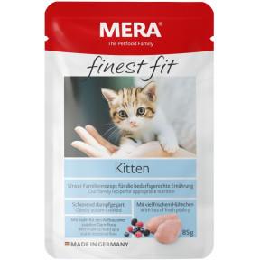 Влажный корм для котят MERA Finest Fit Kitten с курицей 85 г