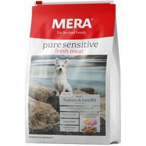 Сухой корм для собак MERA Pure Sensitive Fresh Meat Mini Adult беззерновой, с индейкой и картофелем (для мелких пород) 4 кг