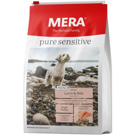 Сухой корм для собак MERA Pure Sensitive Mini Adult с лососем и рисом (для мелких пород) 4 кг