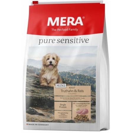 Сухой корм для собак MERA Pure Sensitive Mini Adult с индейкой и рисом (для мелких пород) 4 кг