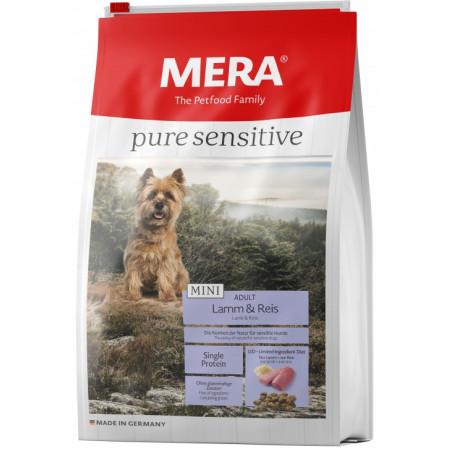 Сухой корм для собак MERA Pure Sensitive Mini Adult с ягненком и рисом (для мелких пород) 4 кг
