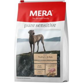 Сухой корм для собак MERA Pure Sensitive Adult с индейкой и рисом 1 кг