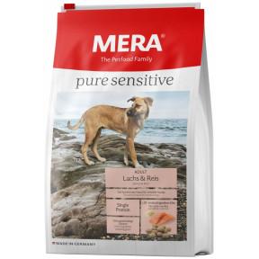 Сухой корм для собак MERA Pure Sensitive Adult с лососем и рисом 1 кг