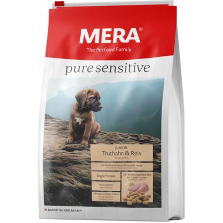 Сухой корм для щенков MERA Pure Sensitive Junior с индейкой и рисом 12.5 кг