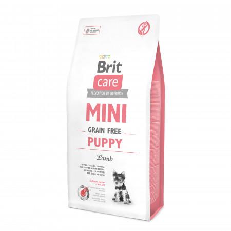 Сухой корм для щенков BRIT Care MINI Puppy беззерновой, ягненок (для мелких пород) 7 кг