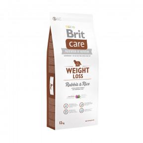 Сухой корм для собак BRIT Care Weight Loss при склонности к избыточному весу, с кроликом с рисом 3 кг