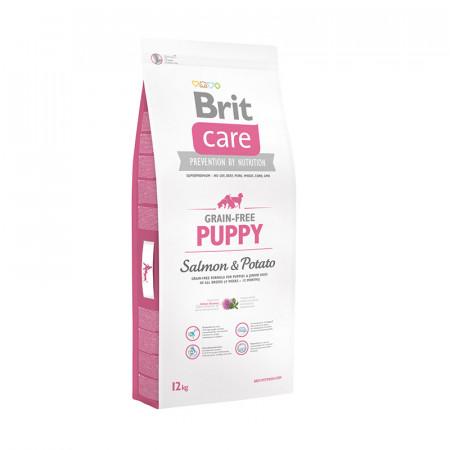 Сухой корм для щенков BRIT Care Grain-free Puppy беззерновой, лосось с картофелем 12 кг