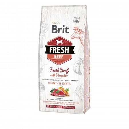 Сухой корм для щенков BRIT FRESH Puppy Large Growth & Joints говядина с тыквой (для крупных пород) 12 кг