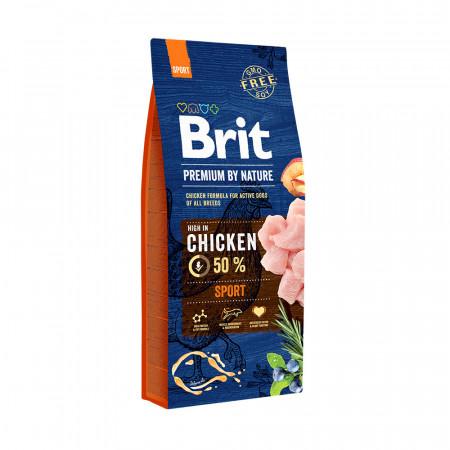 Сухой корм для активных собак BRIT PREMIUM by Nature Sport с курицей 15 кг