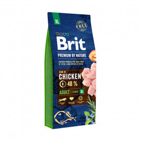 Сухой корм для собак BRIT PREMIUM by Nature Adult XL с курицей (для гигантских пород) 3 кг