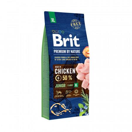 Сухой корм для щенков BRIT PREMIUM by Nature Junior XL с курицей (для гигантских пород) 3 кг