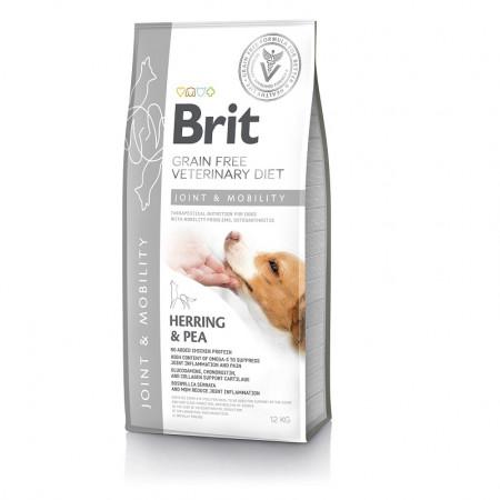 Сухой корм для собак BRIT Veterinary Diet Joint & Mobility беззерновой, при болезнях суставов, сельдь и горошек 12 кг