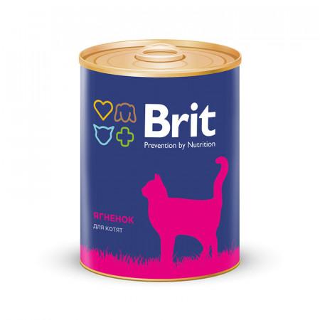 Влажный корм для котят BRIT Premium с ягненком (паштет) 340 г