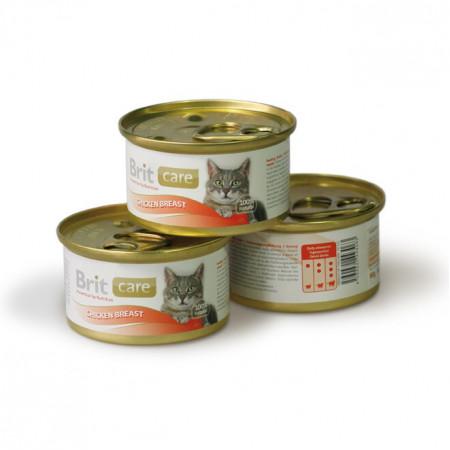 Влажный корм для кошек BRIT Care с куриной грудкой 80 г