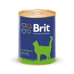 Влажный корм для кошек BRIT Premium с говядиной (паштет) 340 г