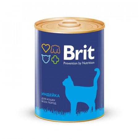 Влажный корм для кошек BRIT Premium с индейкой (паштет) 340 г