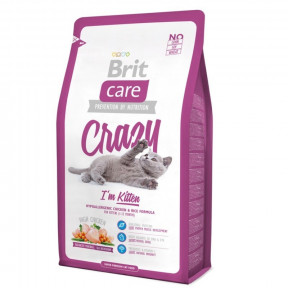 Сухой корм для котят BRIT Care Crazy Kitten с курицей с рисом 400 г