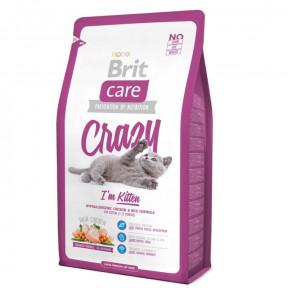 Сухой корм для котят BRIT Care Crazy Kitten с курицей с рисом 7 кг