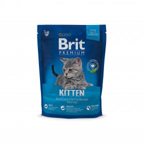 Сухой корм для котят BRIT Premium Kitten с курицей в лососевом соусе 300 г