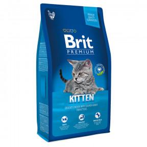 Сухой корм для котят BRIT Premium Kitten с курицей в лососевом соусе 8 кг
