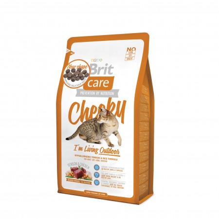 Сухой корм для кошек BRIT Care Cheeky Outdoor для активных и гуляющих на улице, с олениной и рисом 2 кг
