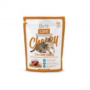 Сухой корм для кошек BRIT Care Cheeky Outdoor для активных и гуляющих на улице, с олениной и рисом 400 г