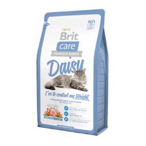 Сухой корм для кошек BRIT Care Daisy, профилактика избыточного веса, с индейкой с рисом 2 кг