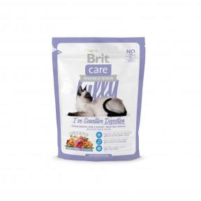 Сухой корм для кошек BRIT Care Lilly беззерновой, при чувствительном пищеварении, с ягненок с лососем 400 г