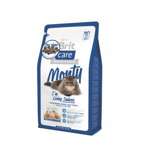 Сухой корм для кошек BRIT Care Monty Indoor, для живущих в квартирах, курица с рисом 2 кг
