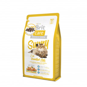 Сухой корм для кошек BRIT Care Sunny Beautiful Hair, для здоровья кожи и блеска шерсти, лосось с рисом 2 кг