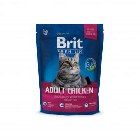 Сухой корм для кошек BRIT Premium Adult Chicken с курицей и с куриной печенью 800 г