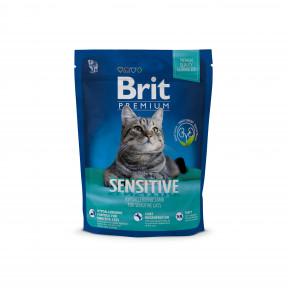 Сухой корм для кошек BRIT Premium Sensitive гипоаллергенный, при чувствительном пищеварении, с ягненком 800 г