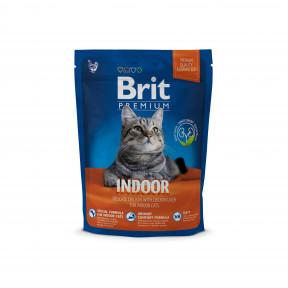 Сухой корм для кошек, живущих в помещении BRIT Premium Indoor с курицей и с куриной печенью 300 г