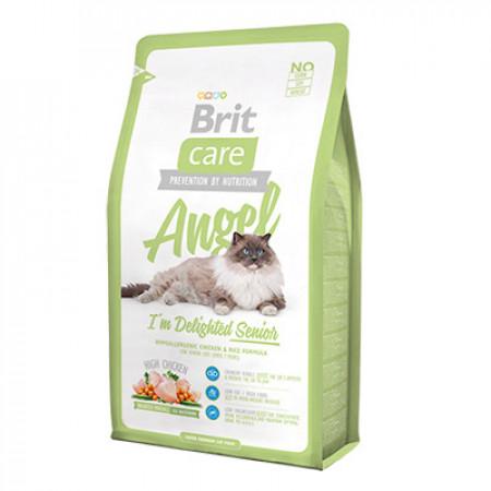 Сухой корм для пожилых кошек BRIT Care Angel Delighted Senior для профилактики избыточного веса, с курицей и рисом 2 кг