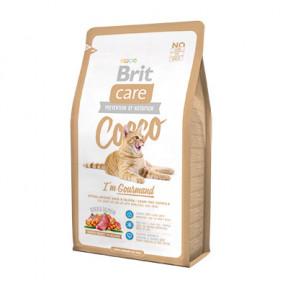 Сухой корм для привередливых кошек BRIT Care Cocco Gourmand беззерновой, для кошек с проблемами в потреблении пищи, с уткой с лососем 2 кг