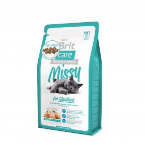 Сухой корм для стерилизованных кошек BRIT Care Missy for Sterilised, с курицей с рисом 2 кг