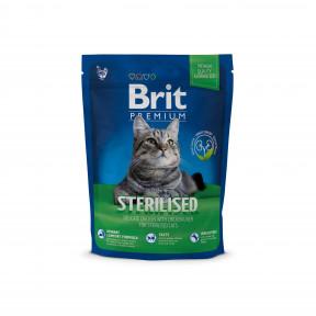 Сухой корм для стерилизованных кошек BRIT Premium Sterilized с курицей и с куриной печенью 300 г