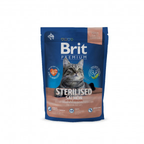 Сухой корм для стерилизованных кошек BRIT Premium Sterilized с лососем, с курицей и с куриной печенью 1.5 кг