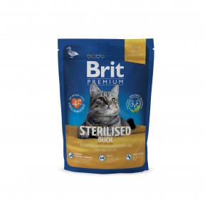 Сухой корм для стерилизованных кошек BRIT Premium Sterilized с уткой и с куриной печенью 800 г