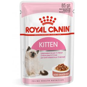 Влажный корм для котят Royal Canin Kitten мясное ассорти, кусочки в соусе 85 г