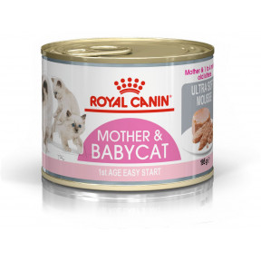 Влажный корм для котят до 4 месяцев, для беременных и кормящих кошек Royal Canin Mother & Babycat Ultra Soft Mousse очень нежный мусс 195 г