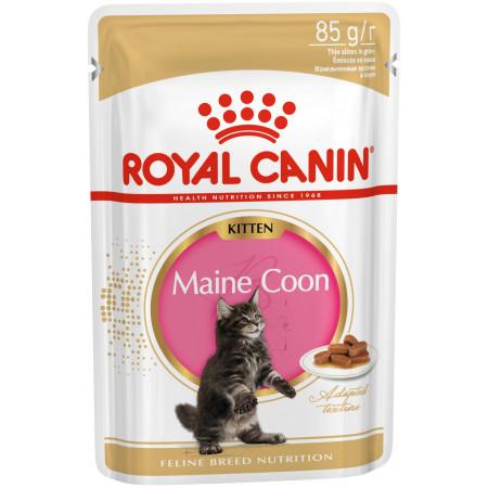 Влажный корм для котят Мейн-кунов Royal Canin Maine Coon Kitten кусочки в соусе 85 г