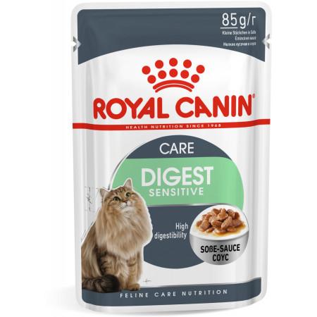 Влажный корм для кошек Royal Canin Digest Sensitive при чувствительном пищеварении (кусочки в соусе) 85 г