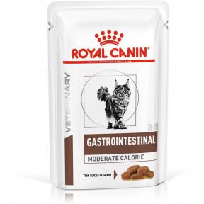 Влажный корм для кошек Royal Canin Gastrointestinal Moderate Calorie при проблемах с ЖКТ (кусочки в желе) 85 г