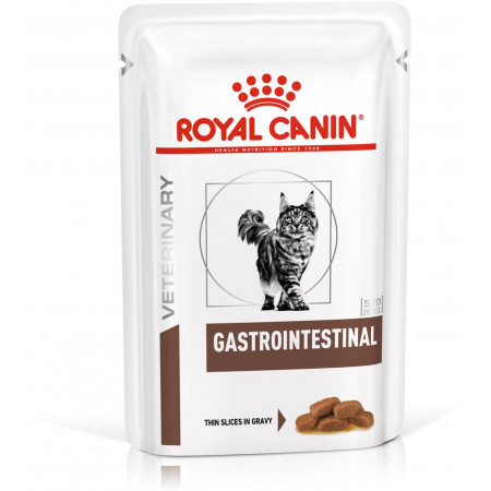 Влажный корм для кошек Royal Canin Gastrointestinal при проблемах с ЖКТ (кусочки в желе) 85 г