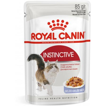 Влажный корм для кошек Royal Canin Instinctive для профилактики избыточного веса, кусочки в желе 85 г