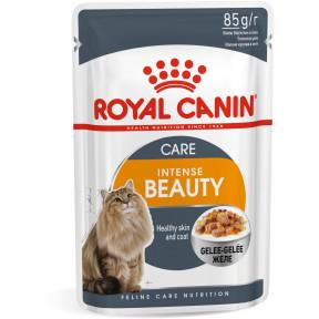 Влажный корм для кошек Royal Canin Intense Beauty мясное ассорти, рыбное ассорти (кусочки в желе) 85 г